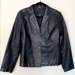 Kenneth Cole Black Leather Jacket